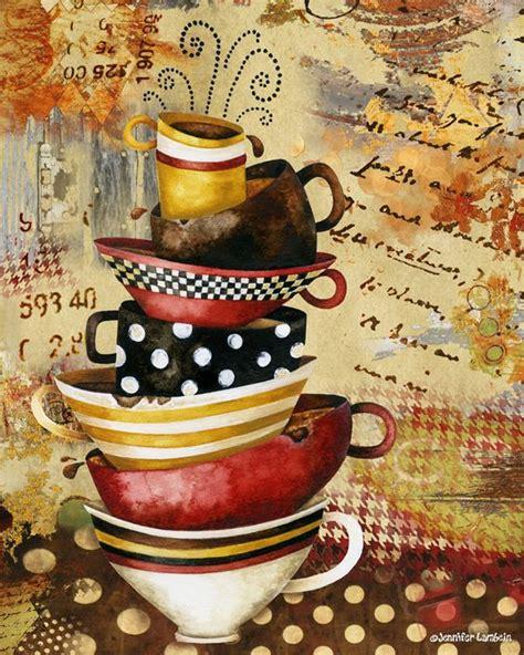 coffee print wallpaper coffee cups divine art print by jennifer lambein coffee