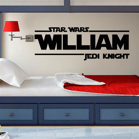 star wars bedroom decals star wars wall decal star wars boys name wall decals jedi