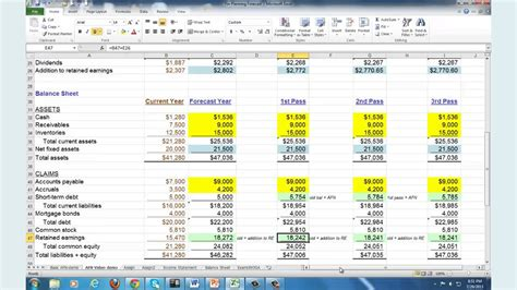 financial planning forecasting spreadsheet modeling