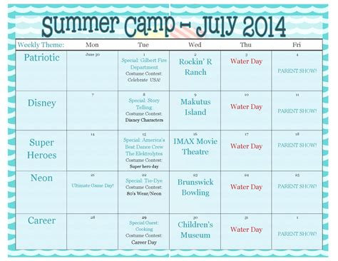 theme names for summer c pin preschool daily schedule image search results on pinterest