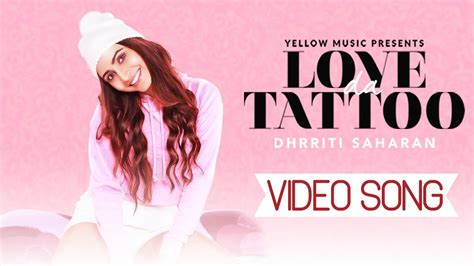 Tattoo New Punjabi Song | love da tattoo dhrriti saharan new punjabi song team