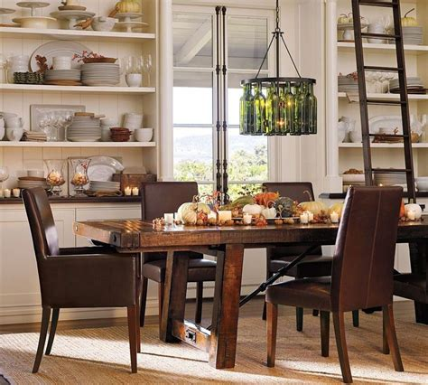 tables chairs durable pottery barn kitchen table brown