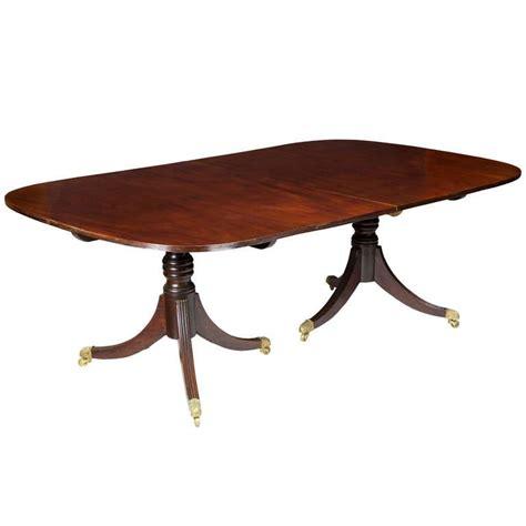Regency Mahogany Two Pedestal Dining Table At 1stdibs | piece4 3quarter l jpg