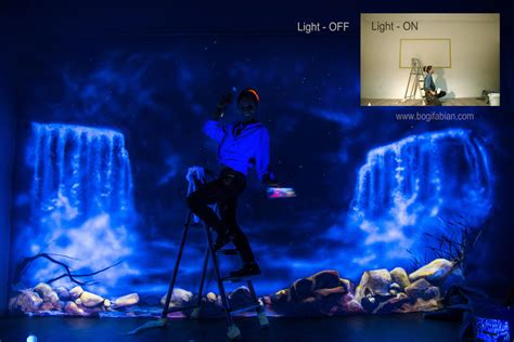 turn photo into wall mural when the lights go out my glowing murals turn these rooms into dreamy worlds bored panda