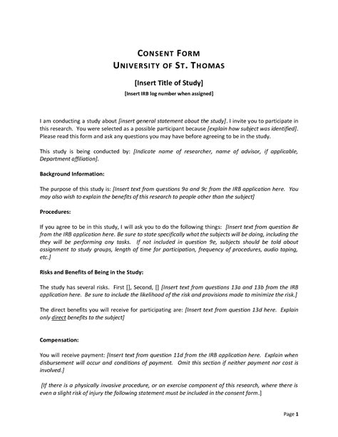 study consent form template best photos of research consent form exle research