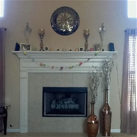 Vases For Fireplace Mantels by Fireplace Vases Clock And Mantel Decor From Pier 1