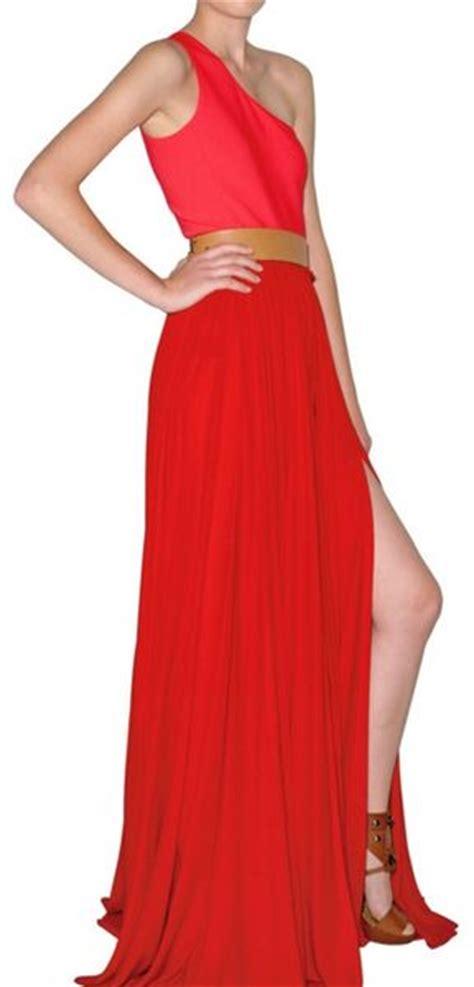 Dress Loisa Scuba lanvin washed envers satin and scuba dress in lyst