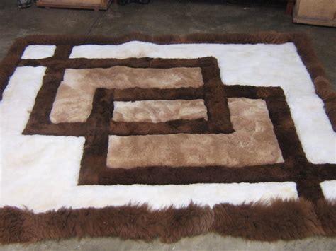 peruvian alpaca rug peruvian alpaca fur rug with geometric design 80 x 60 cm other rugs carpets