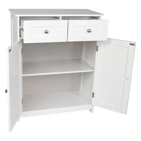 White 2 Door Storage Cabinet Priano Bathroom Cabinet 2 Drawer 2 Door Storage Cupboard Unit Furniture White Ebay