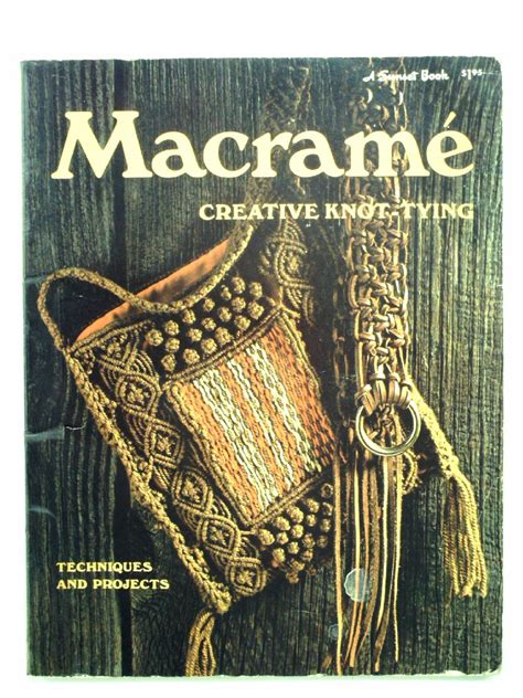 Macrame Book - 1970s sunset book of macrame purse 1971 sunset book of