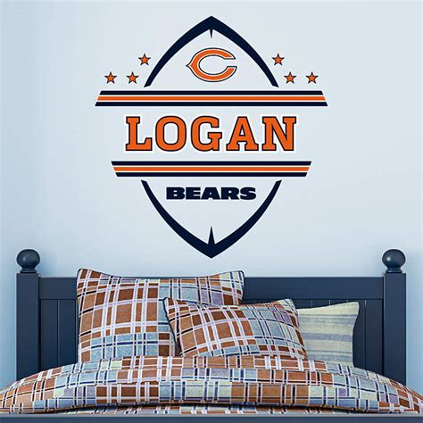 chicago bears wall stickers chicago bears personalized name wall decal shop fathead