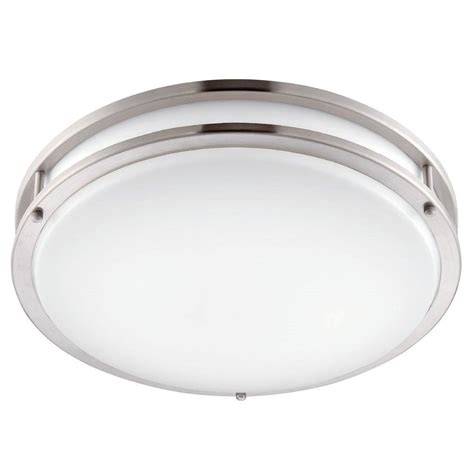 envirolite 12 in brushed nickel white led ceiling low