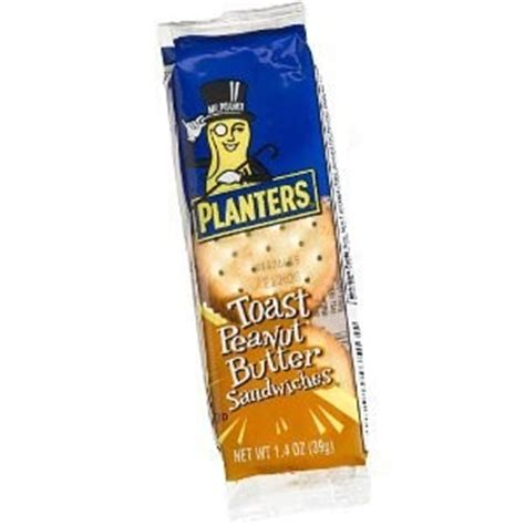 planters peanut butter planter s toasted peanut butter crackers 120 ct