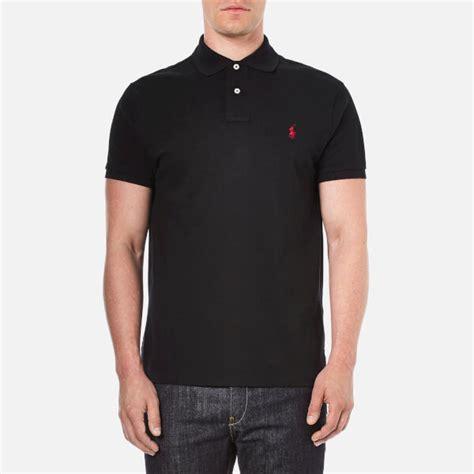 Polo Shirt Polo Raphl Custom Tshirt Polo polo ralph s custom fit sleeved polo shirt pl black free uk delivery