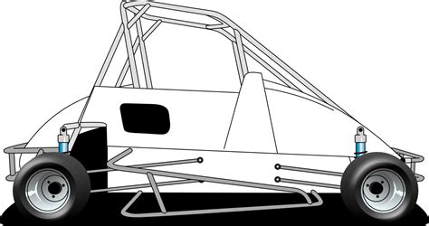Micro Sprint Car Template Pictures To Pin On Pinterest Sprint Car Coloring Pages