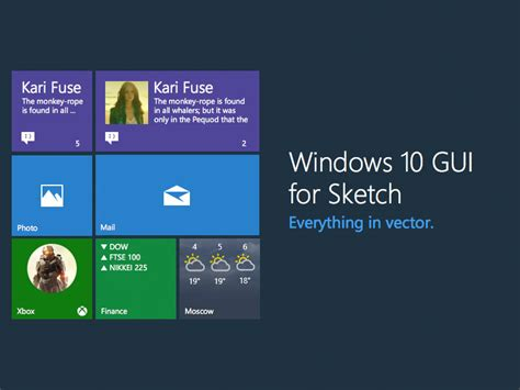 windows 10 app ui tutorial windows 10 ui kit sketch freebie download free resource