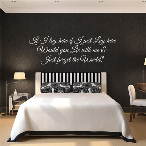 snow patrol wall sticker chasing cars wall decal