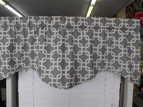 Gray And White Valance Window Valance Grey Gray Almost White
