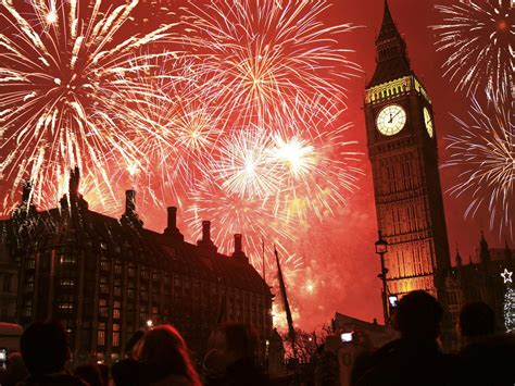 london celebration  years eve big ben clock fireworks
