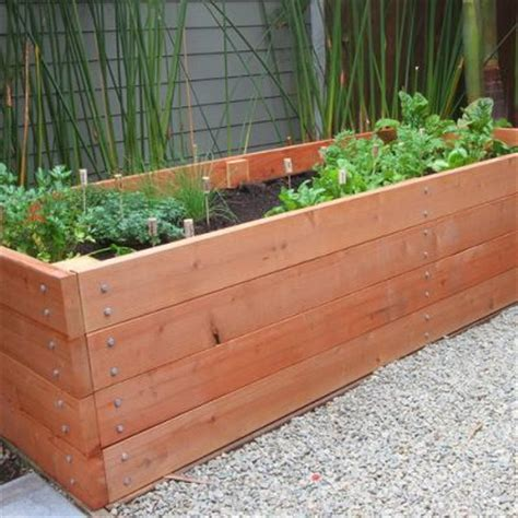 How To Build A Raised Planter Box by 25 Best Ideas About Raised Planter Beds On