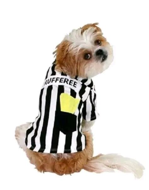 soccer for dogs rufferee referee sports costume t shirt football soccer for beds and costumes