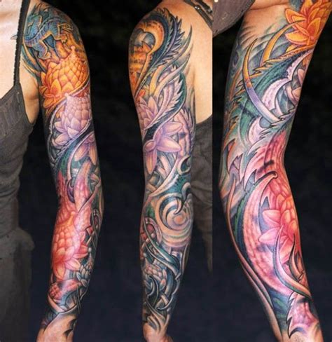 small biomechanical tattoos by aitchison sleeves