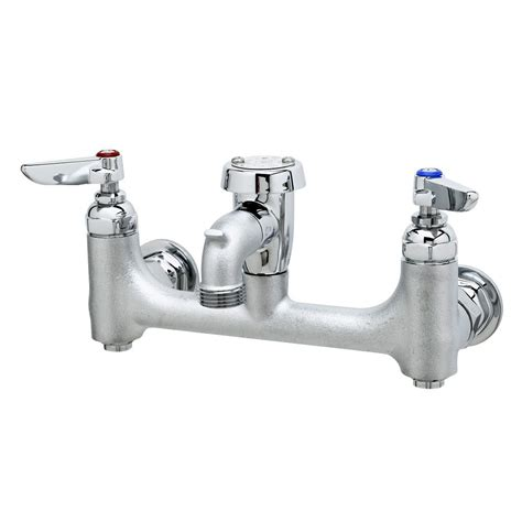 Service Sink Faucets by T S B 0674 Cr Bstr Wall Mount Chrome Service Sink
