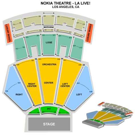 nokia theater seating map search results for nokia theater la seating chart