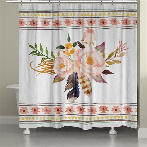 tribal shower curtain tribal flowers shower curtain laural home