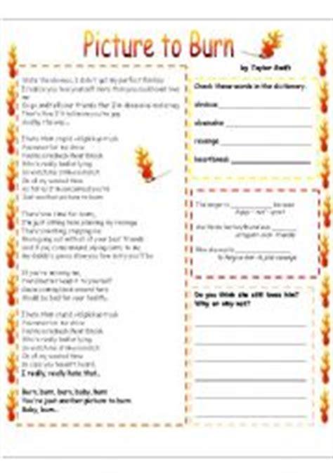 printable lyrics by taylor swift english teaching worksheets taylor swift