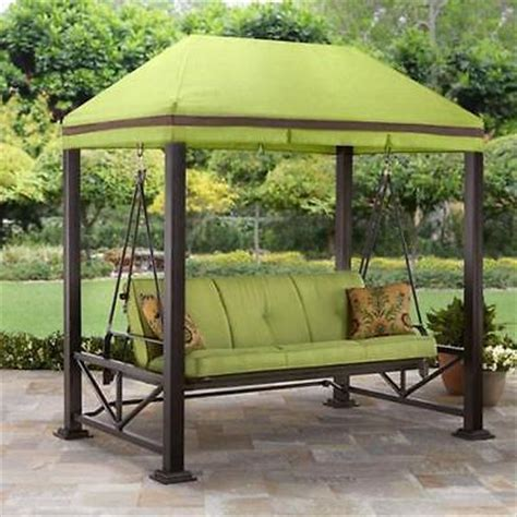 gazebo swing canopy swing gazebo outdoor covered patio deck porch garden