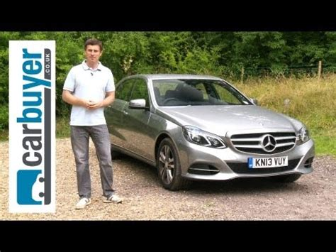 Mat Watson Carbuyer by Link Mercedes E Class Saloon 2013 Review