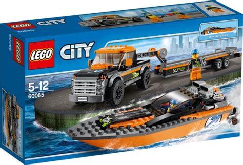 lego boot met motor bol lego city 4x4 met speedboot 60085 lego