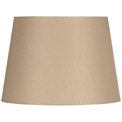 Beige Drum L Shade by Beige Linen Hardback Drum Shade 15x18x12 Spider 5t928