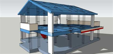 house roof structure design complete structural design drawings of a reinforced concrete house