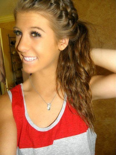 volleyball hairstyles braids french braid into side ponytail brittany horton i should