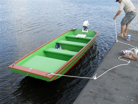 wooden jon boat plans for building a jon boat plan make easy to build boat