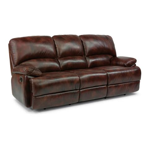 Flexsteel Leather Reclining Sofa Flexsteel 1127 630 Leather Three Cushion Chaise Reclining Sofa Discount Furniture At