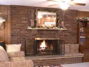 brick fireplace makeover ideas decorating ideas for brick fireplace wall