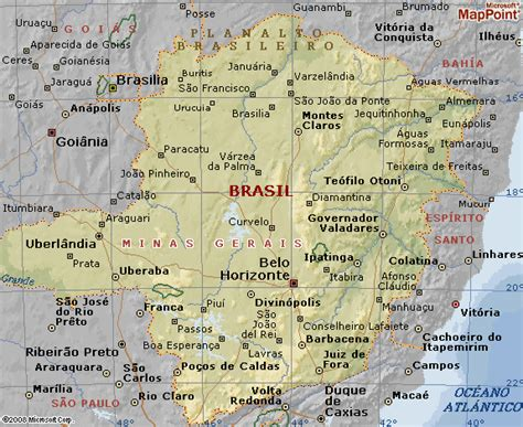Map Of Minas Gerais Map Of The World Colouring Page