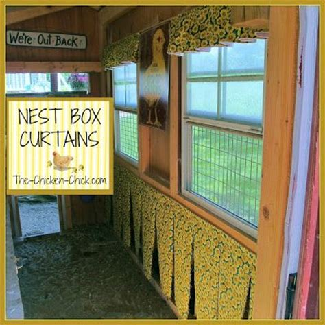 chicken house curtains chicken nest box curtains more than a fashion statement