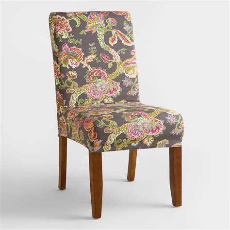 floral slipcovers gray floral anna slipcover world market