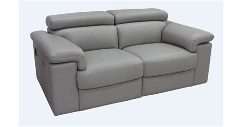 light gray leather sofa sorrento reclining 2 seater light grey leather