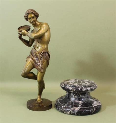 classical antique bronze sculptures figurine old man antique hippolyte heizler bronze sculpture classical greek