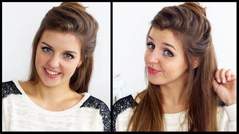 Bewerbungsfoto Zopf Kleiner Dutt Schnell Und Einfach 5 Min Frisur Frisuren Freitag