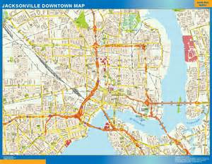 map of jacksonville world wall maps store jacksonville downtown map more