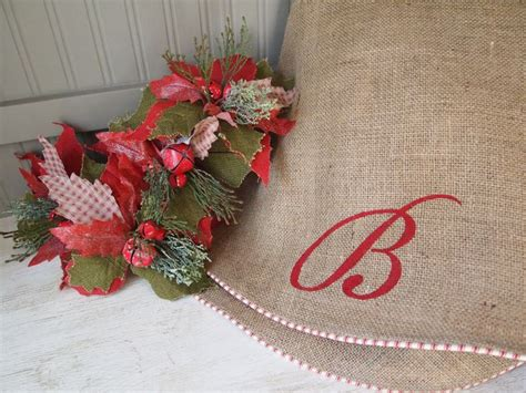 60 quot custom initial monogram natural burlap christmas tree
