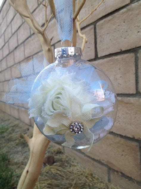 winter wonderland shabby chic ornament by lovemomboutique