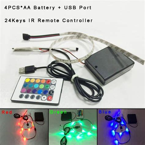 Battery Powered Led Light Strips With Remote Button Cell Mini Small Remote Controlled Rechargeble 9v