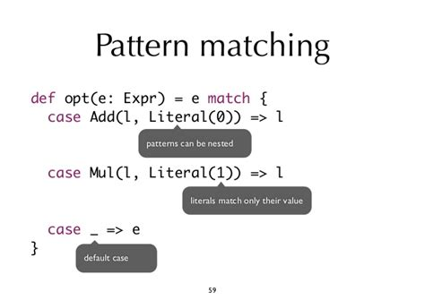 scala pattern matching multiple lines scala object oriented meets functional by iulian dragos